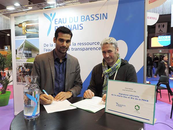 Yannick Nadesan, Président de la Collectivité, et Jean-Paul GABILLARD, Secrétaire national de la Fédération Nationale de l'Agriculture Biologique
