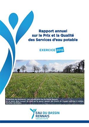 Rapport Annuel sur le Prix et la Qualité des Services d'eau potable 2015
