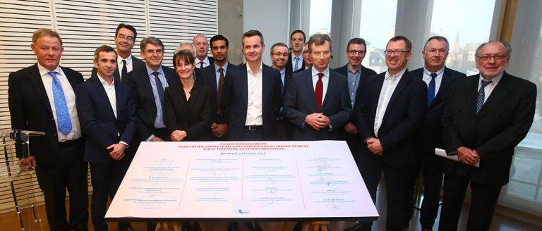 Signature de la charte sur le travail détaché - 10 février 2017