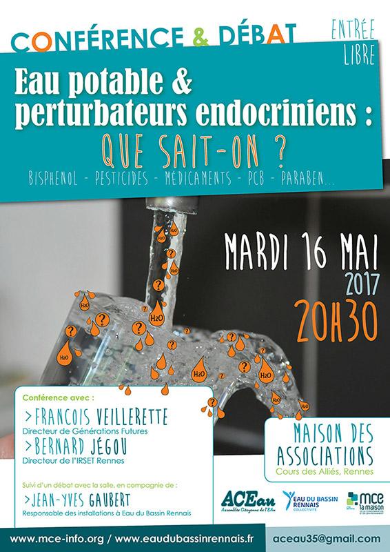 Conférence sur les perturbateurs endocriniens - Mardi 16 mai à Rennes