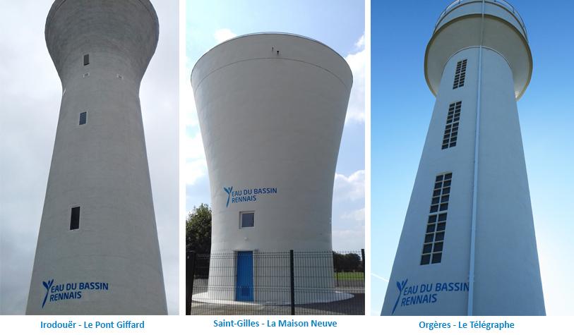 Réhabilitation des réservoirs d'eau potable d'Irodouer, de Saint-Gilles et d'Orgères