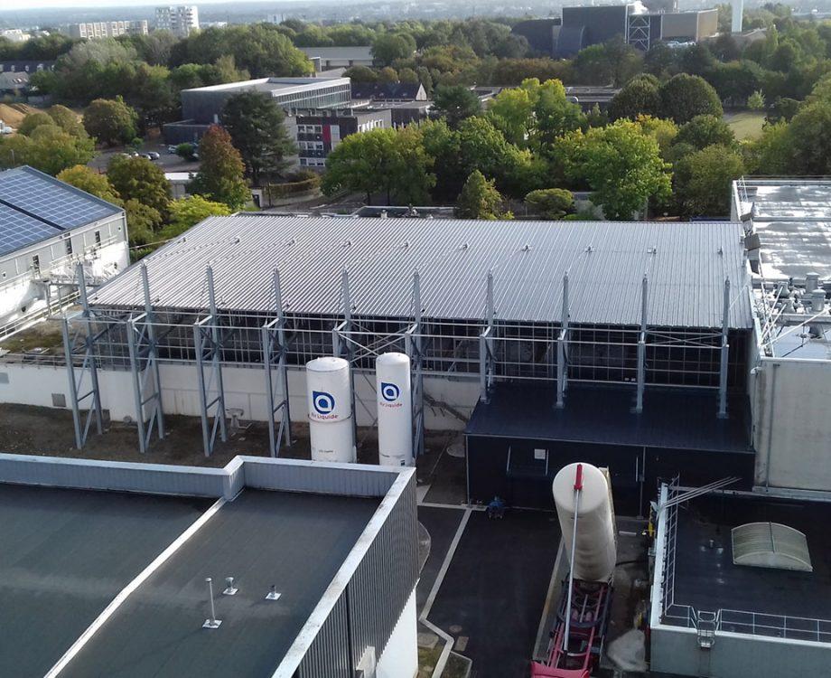 La nouvelle étape de décantation pulsatube construite en 2018 sous un bâtiment fermé