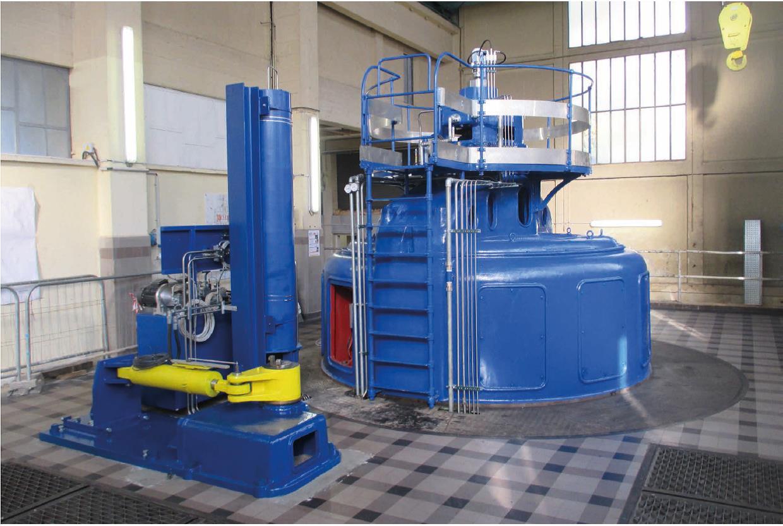 la nouvelle turbine hydroélectrique posée en 2019